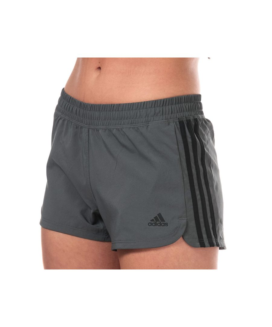 Image for Women's adidas Pacer 3-Stripes Woven Shorts in Grey