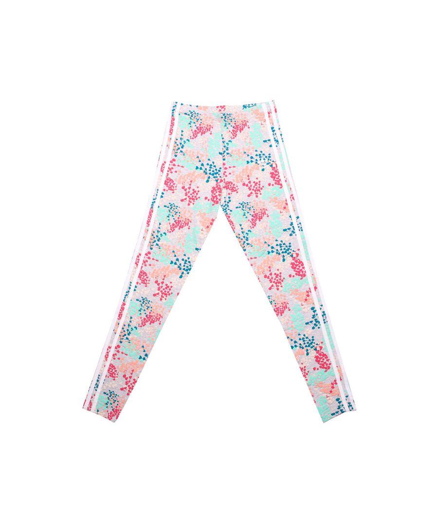 Image for Girl's adidas Originals Junior Flower Leggings in Multi colour