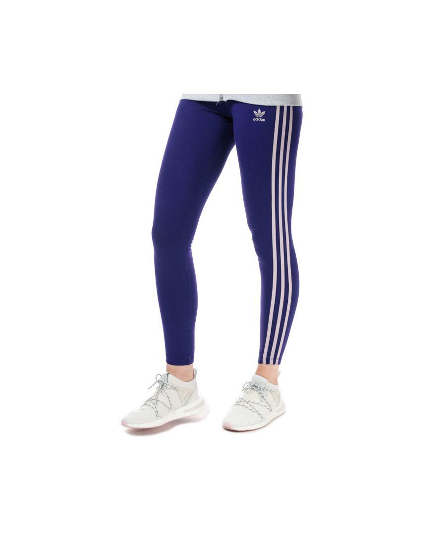Image for Women's adidas Originals 3-Stripes Leggings in Purple