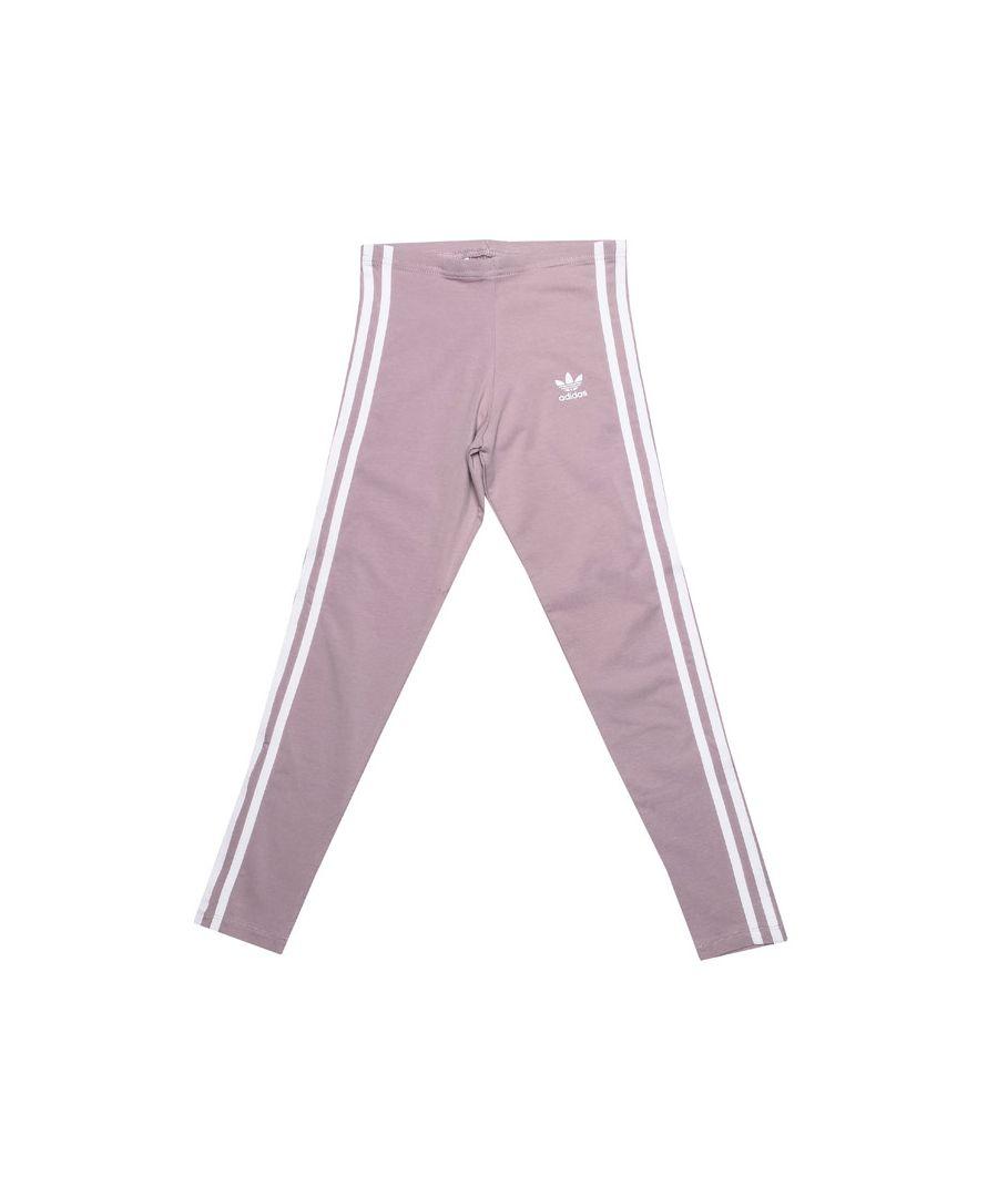 Image for Girl's adidas Originals Junior 3 Stripe Legging in Lilac