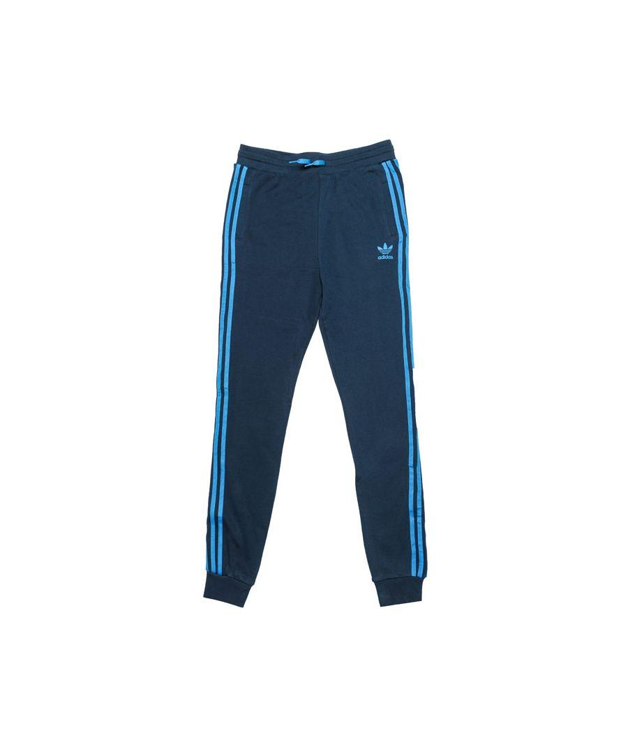 Image for Boy's adidas Originals Junior Trefoil Jog Pants in Navy