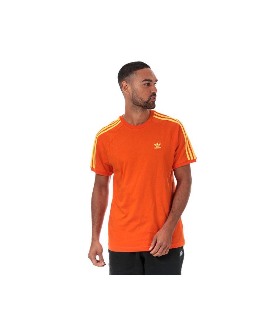 Image for Men's adidas Originals 3-Stripes T-Shirt in Orange