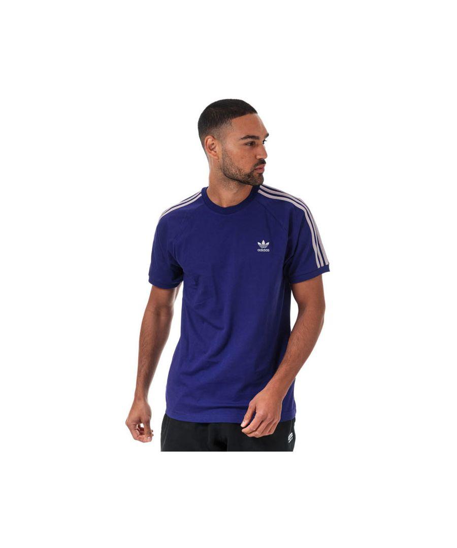 Image for Men's adidas Originals 3-Stripes T-Shirt in Purple