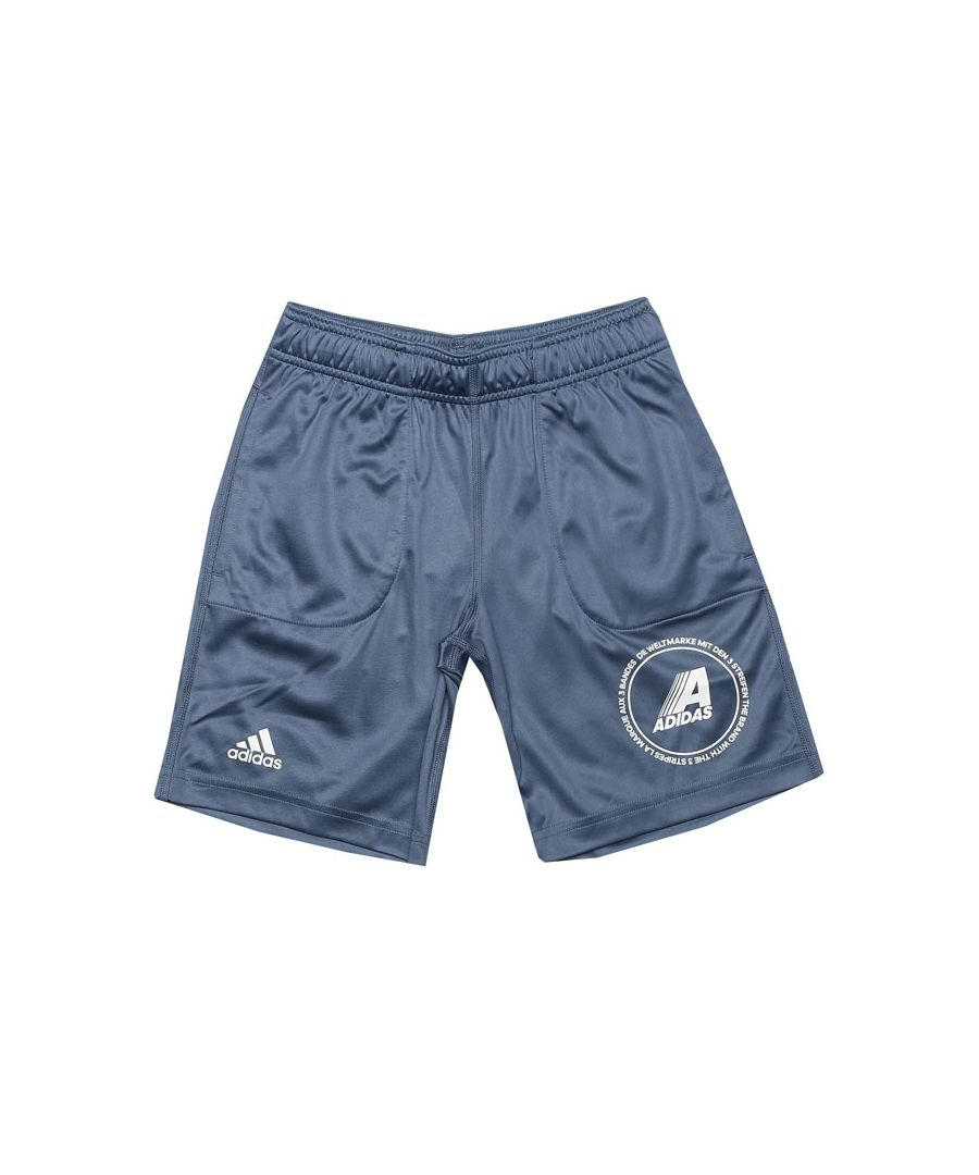 Image for Boy's adidas Junior Reversible Shorts in Blue
