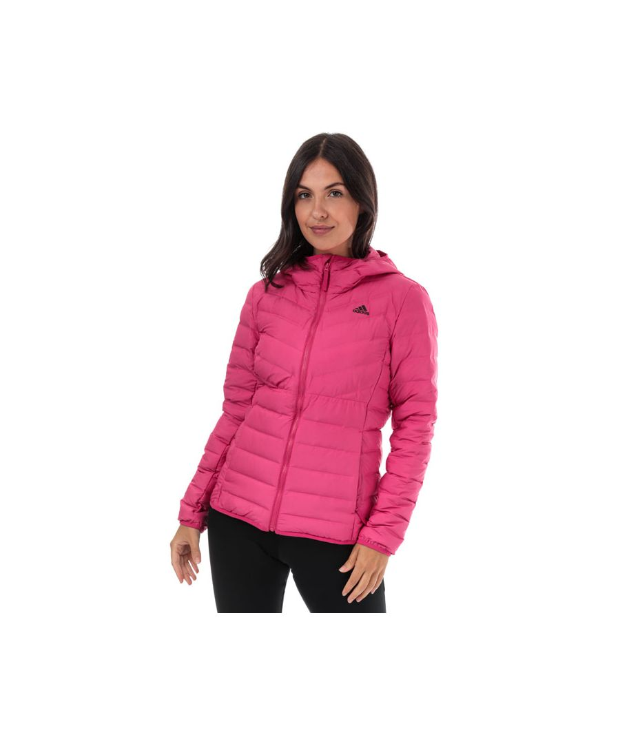 Image for Women's adidas Varilite 3-Stripes Hooded Down Jacket in Pink