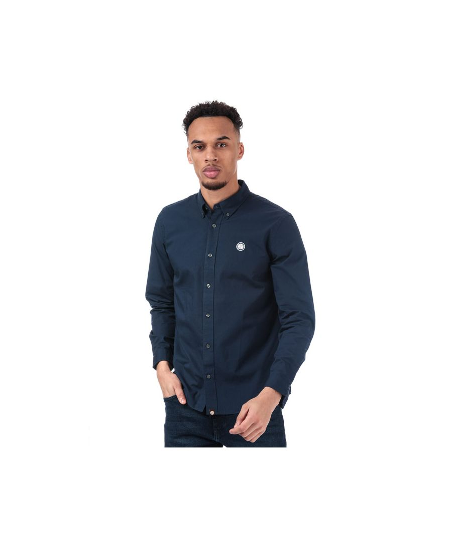 Image for Men's Pretty Green Classic Fit Oxford Shirt in Navy