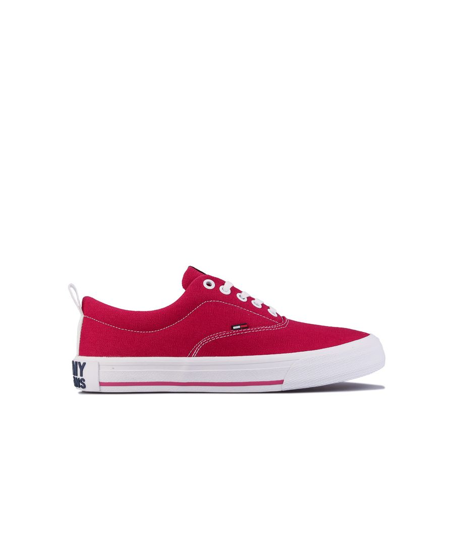 Image for Women's Tommy Hilfiger Essential Low-Top Trainers in Red