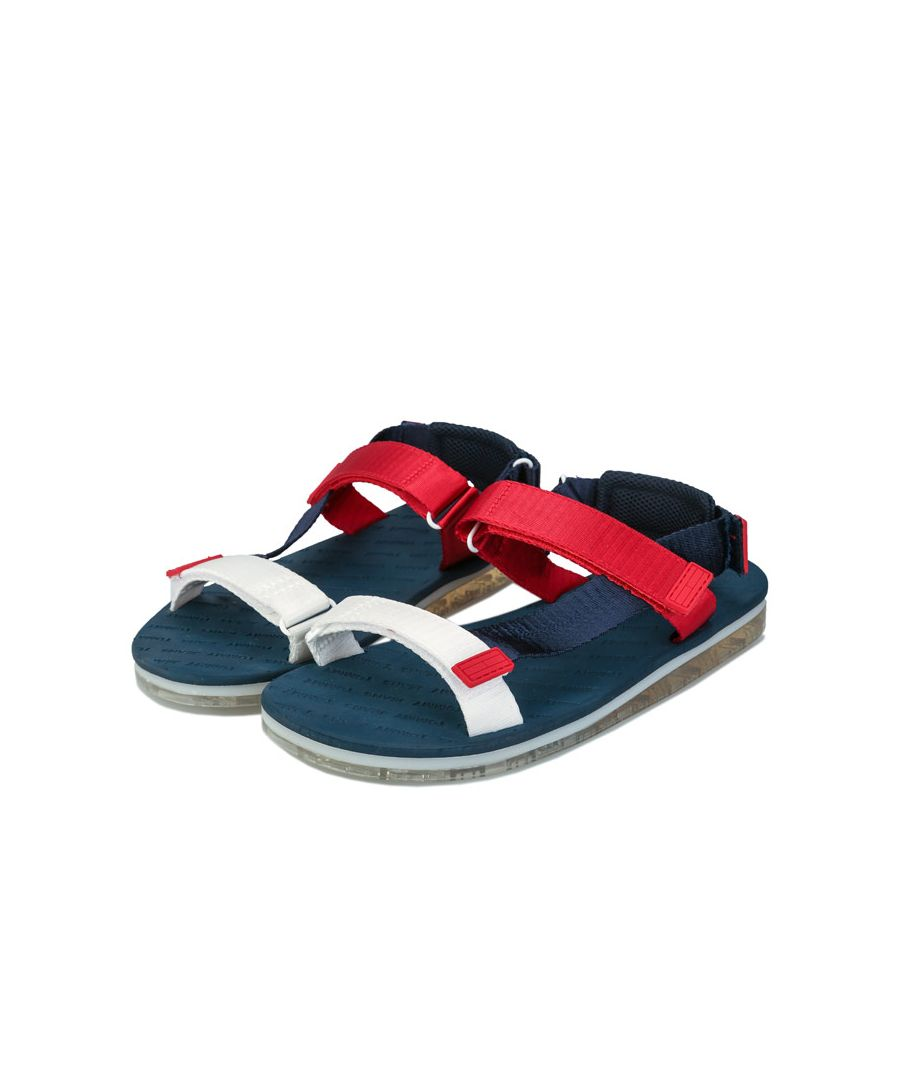 Image for Women's Tommy Hilfiger Colour Blocked Flat Sandals in Navy