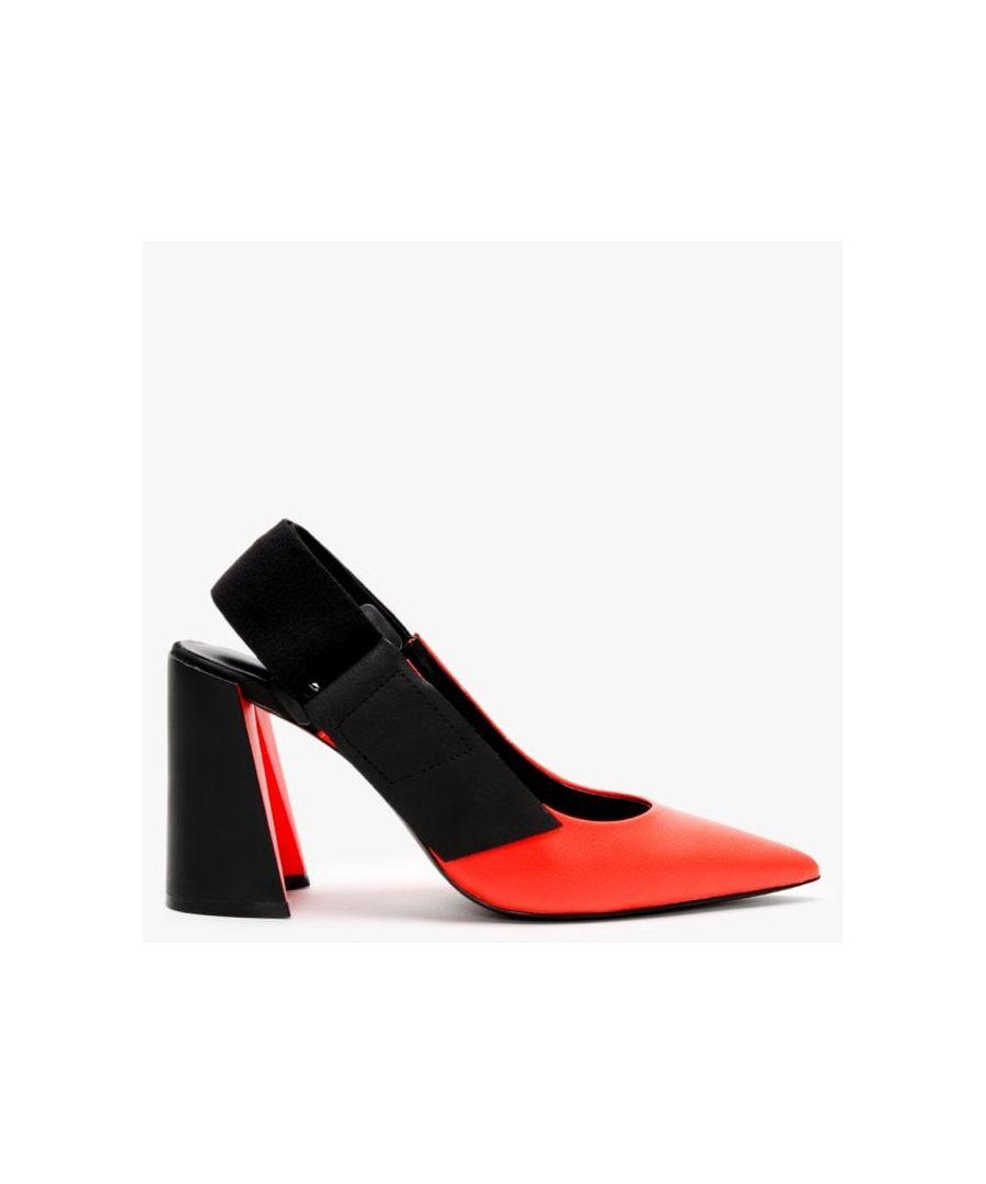Image for Daniel Enrol Leather Sling Back Court Shoes