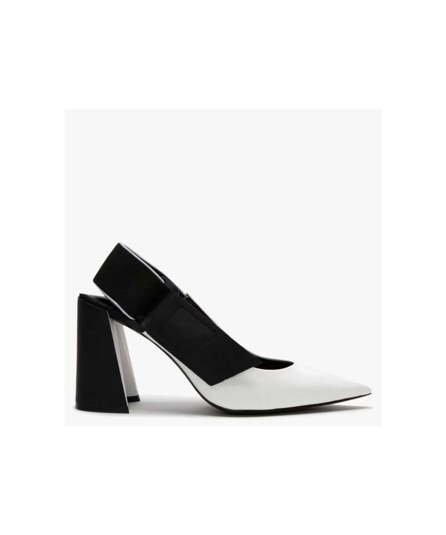 Image for Daniel Enrol Leather Sling Back Court Shoes