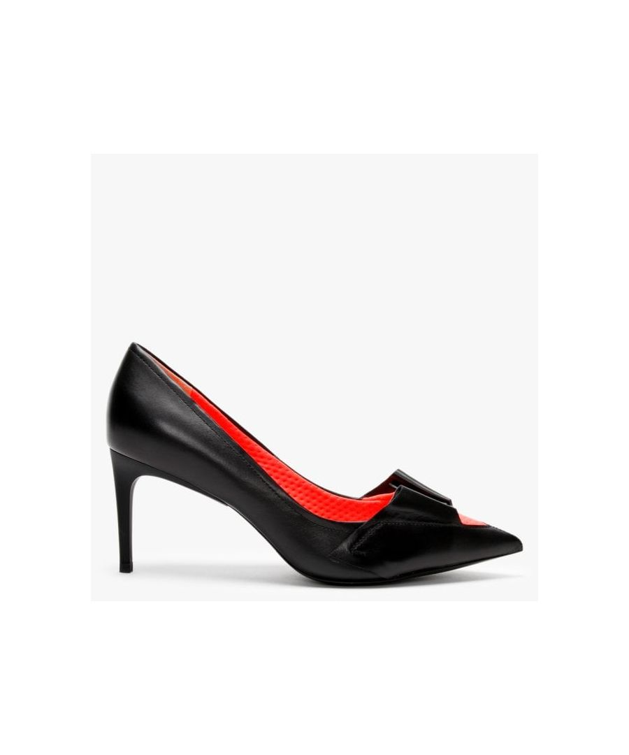 Image for Daniel Eyal Leather Neon Flash Court Shoes