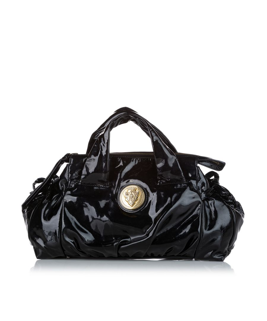 Image for Vintage Gucci Hysteria Patent Leather Handbag Black