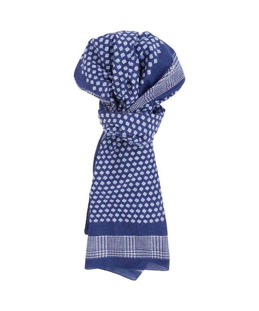 Image for Men's Hackett, Needle Pull Scarf in Multicolour Blue
