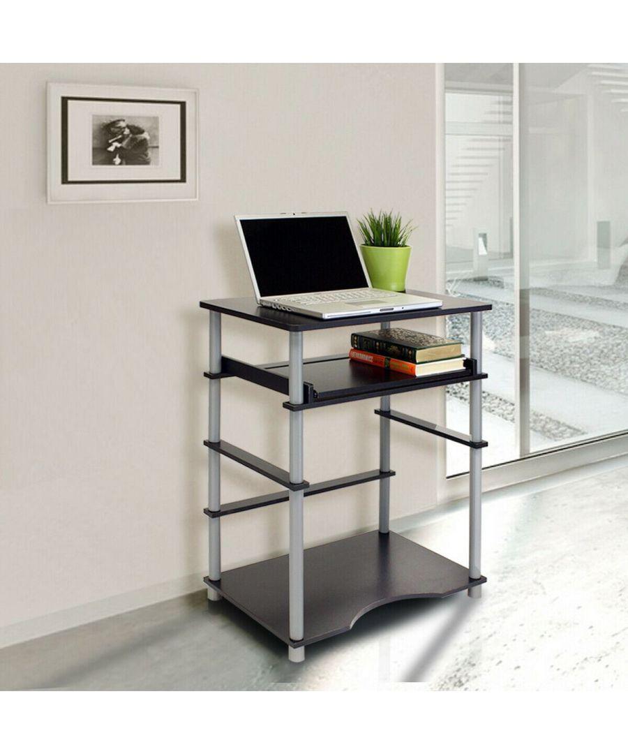 Image for Furinno Home Laptop Notebook Computer Desk, Black/Grey