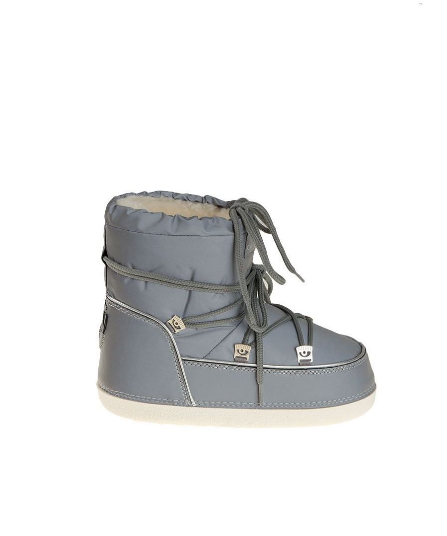 Image for CHIARA FERRAGNI WOMEN'S CF1764GREY GREY FABRIC ANKLE BOOTS