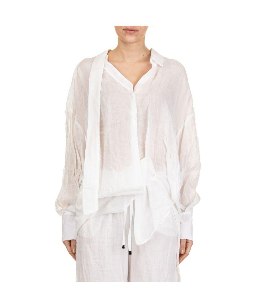 Image for LIVIANA CONTI WOMEN'S L9EP05A090 WHITE SILK BLOUSE