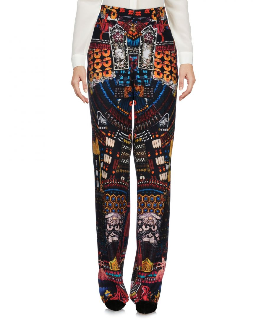 Image for Dsquared2 Silk Pattern Straight Leg Trousers