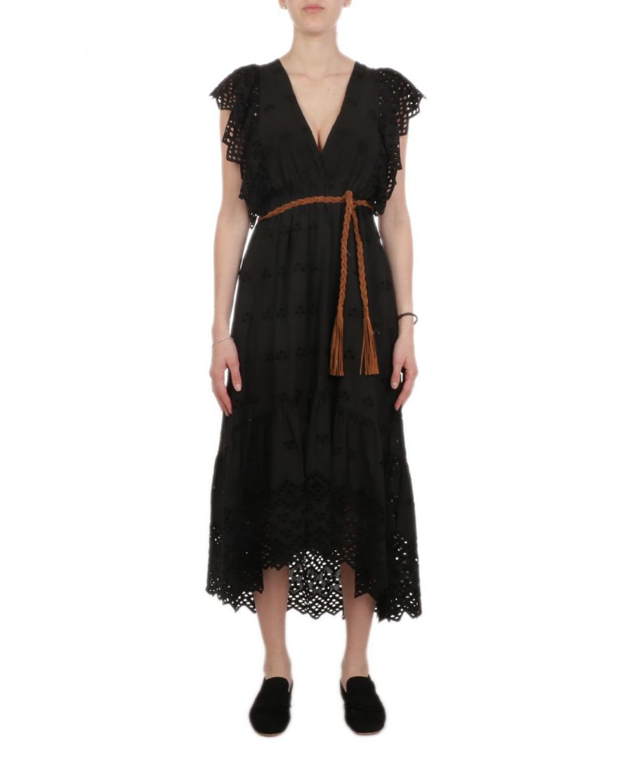 Image for ANIYE BY WOMEN'S 18509700002 BLACK COTTON DRESS