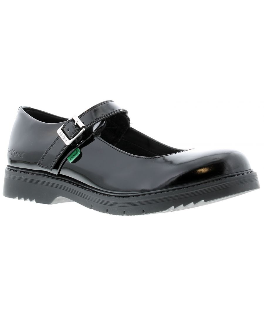 Image for New Ladies Finley Mj A Mary-Jane Offering Smart Style In Patent Leather On A Slimline Sole Unit With