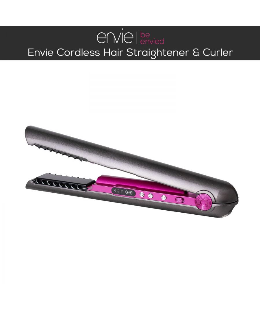 Image for Envie 2 in 1 Cordless Hair Straightener and Hair Curler