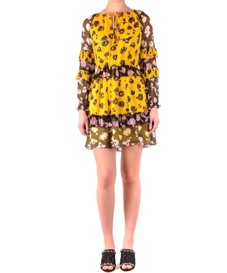 Image for DIANE VON FURSTENBERG WOMEN'S 12847DVFRSGML YELLOW VISCOSE DRESS