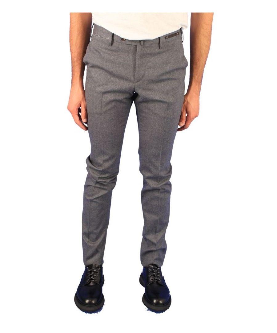Image for PT01 MEN'S CODF01Z00CL1230 GREY WOOL PANTS