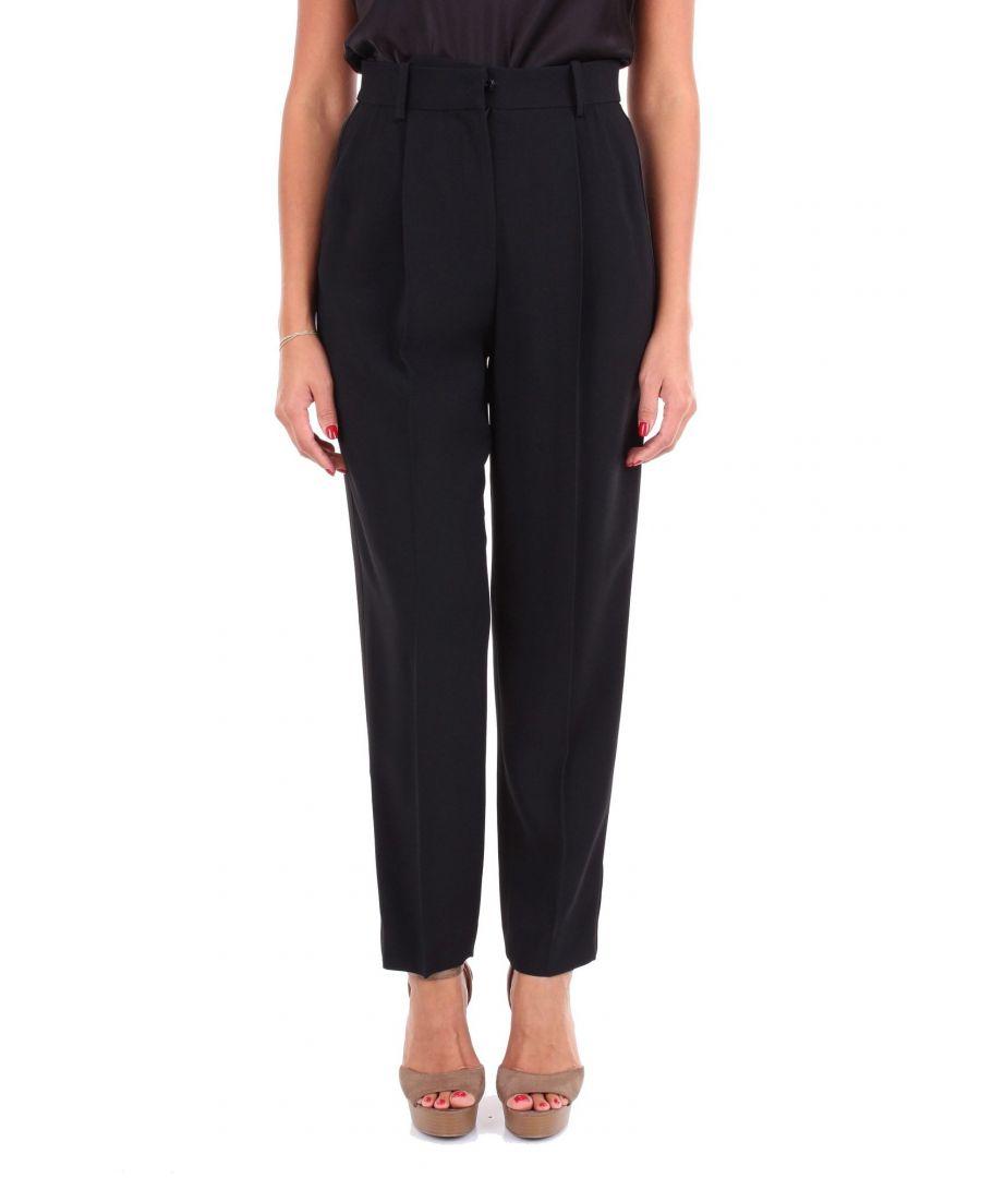 Image for EMPORIO ARMANI WOMEN'S 0NP32T02003999 BLACK ACETATE PANTS