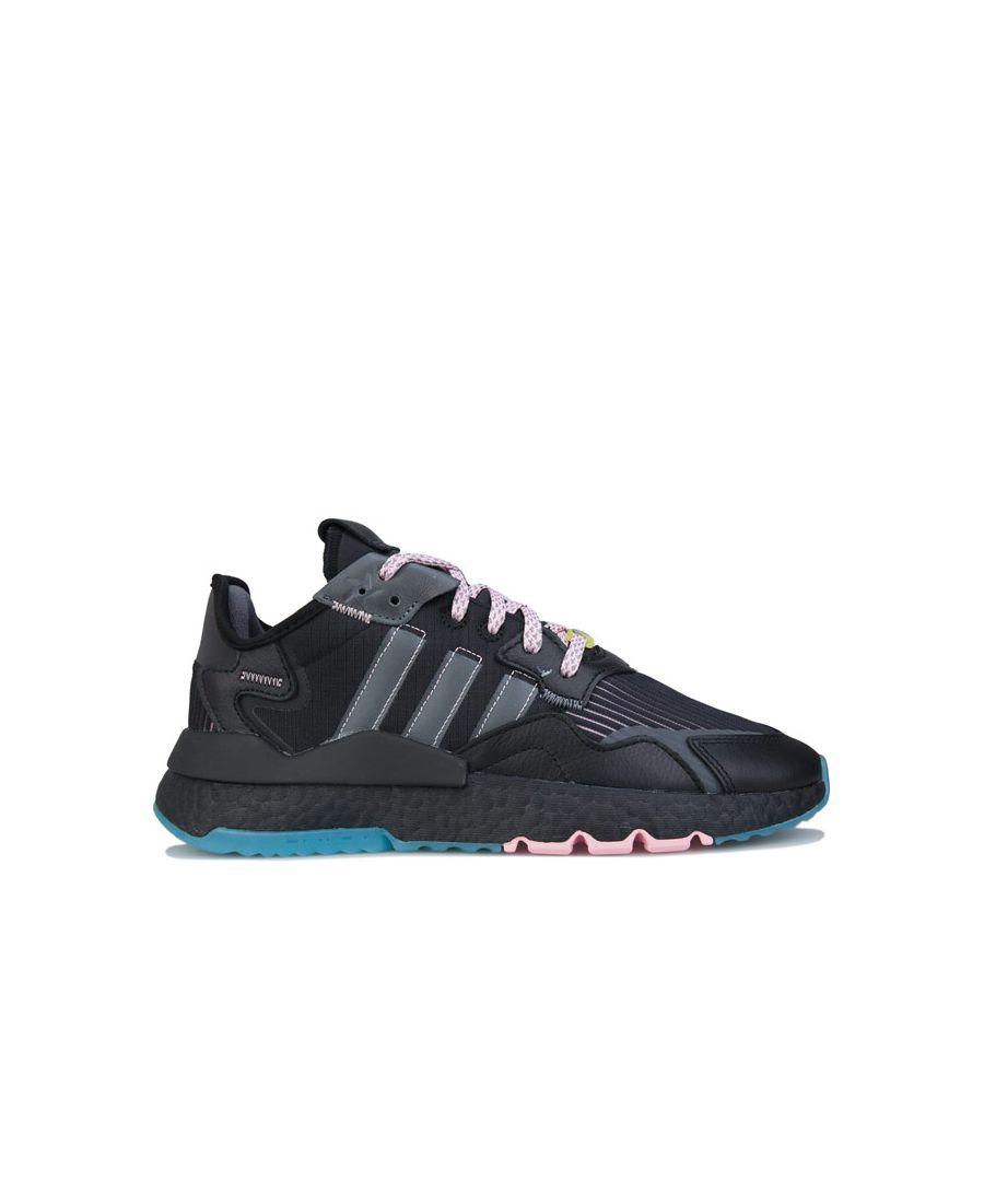 Image for Men's adidas Originals Ninja Nite Jogger Trainers in Black Grey