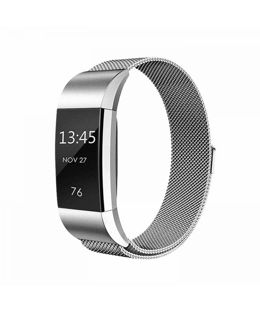 Image for Aquarius Fitbit Charge 2 Milanese Replacement Straps Silver