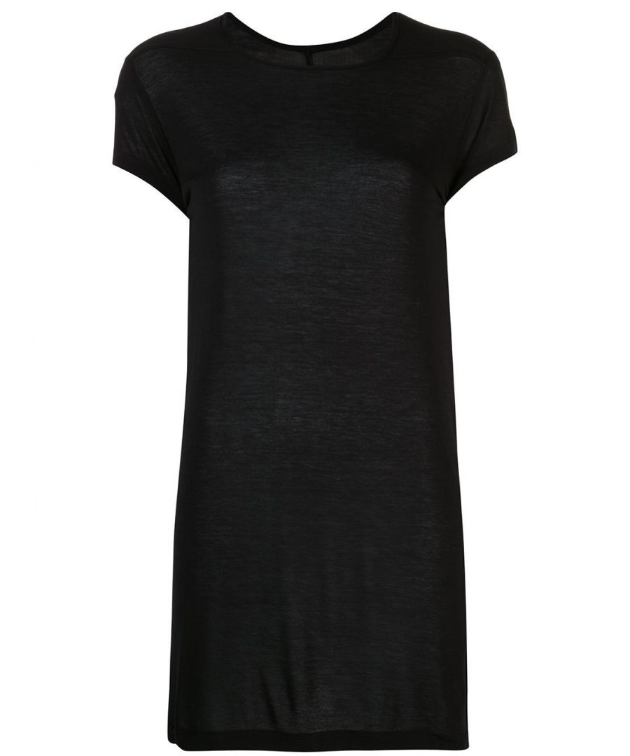 Image for RICK OWENS WOMEN'S RP20S120309 BLACK VISCOSE T-SHIRT