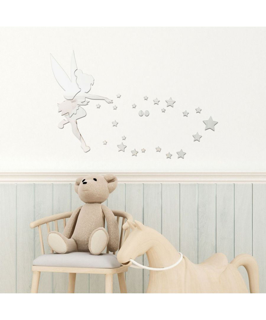 Image for Little Girl Mirror Wall Art  Self Adhesive DIY Wall Art, Wall Art Living Room, Mirror Wall Art