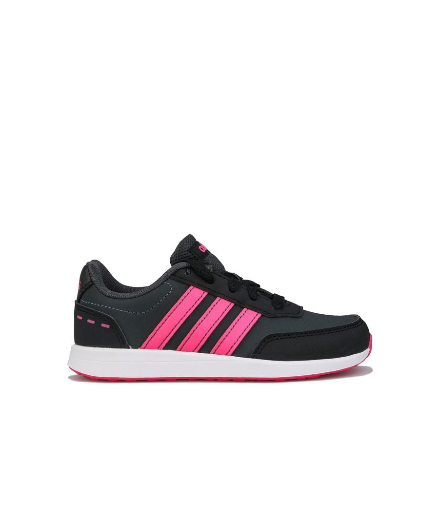 Image for Girl's adidas Junior VS Switch 2 Trainers in Grey pink