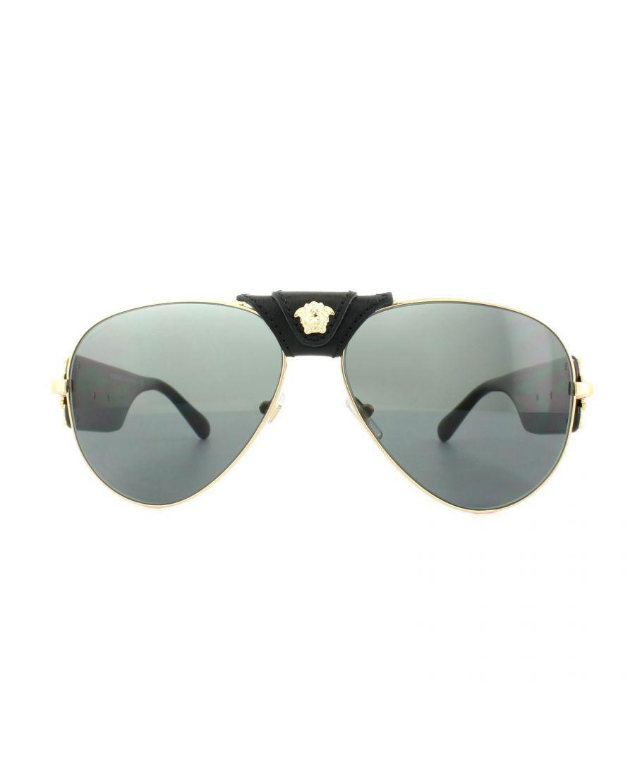 Image for Versace Sunglasses 2150Q 100287 Gold Dark Grey