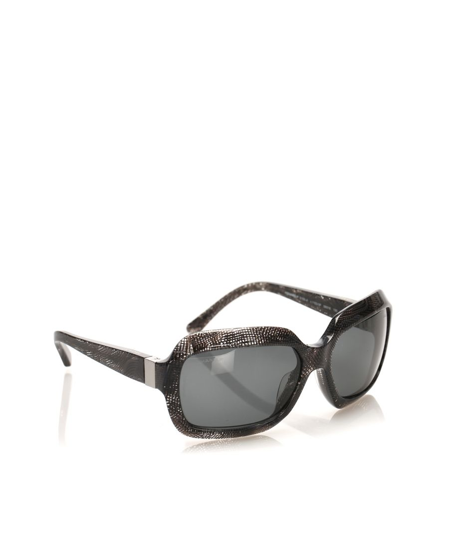 Image for Vintage Chanel Round Tinted Sunglasses Gray
