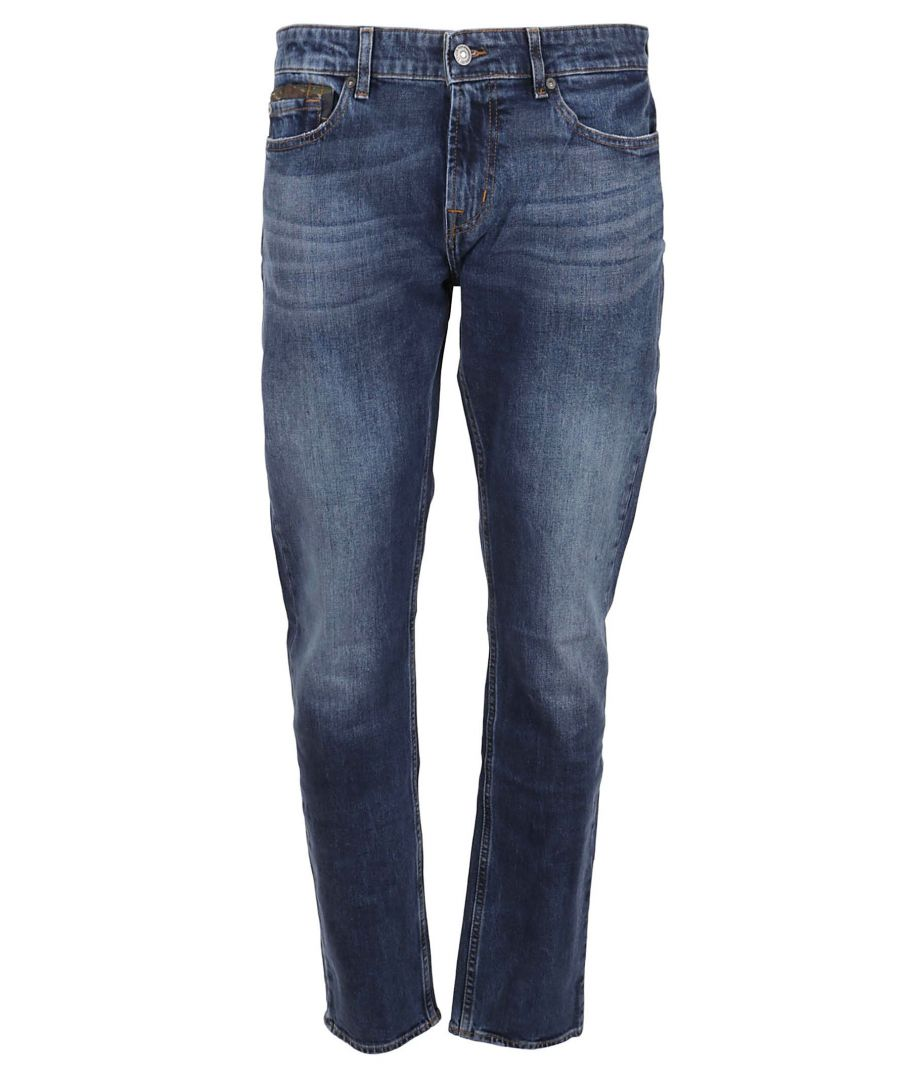 Image for 7 FOR ALL MANKIND MEN'S JSD4L39AEBDARKBLUE BLUE COTTON JEANS