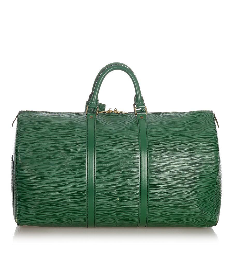 Image for Vintage Louis Vuitton Epi Keepall 50 Green