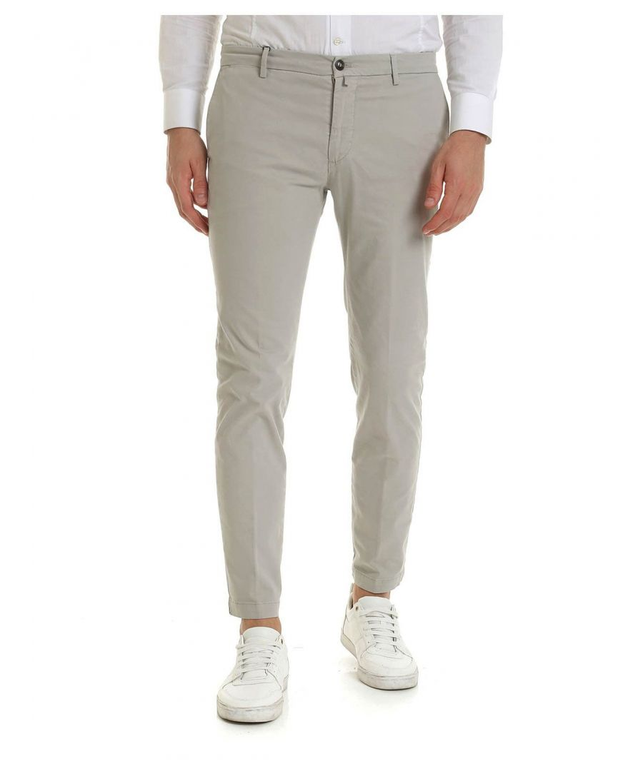 Image for BRIGLIA 1949 MEN'S BG04490933 GREY COTTON PANTS