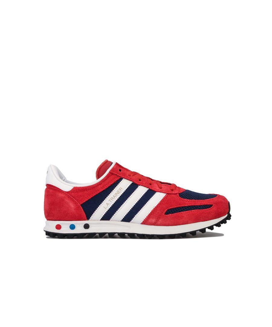 Image for Boy's adidas Originals Junior LA Trainers in Red