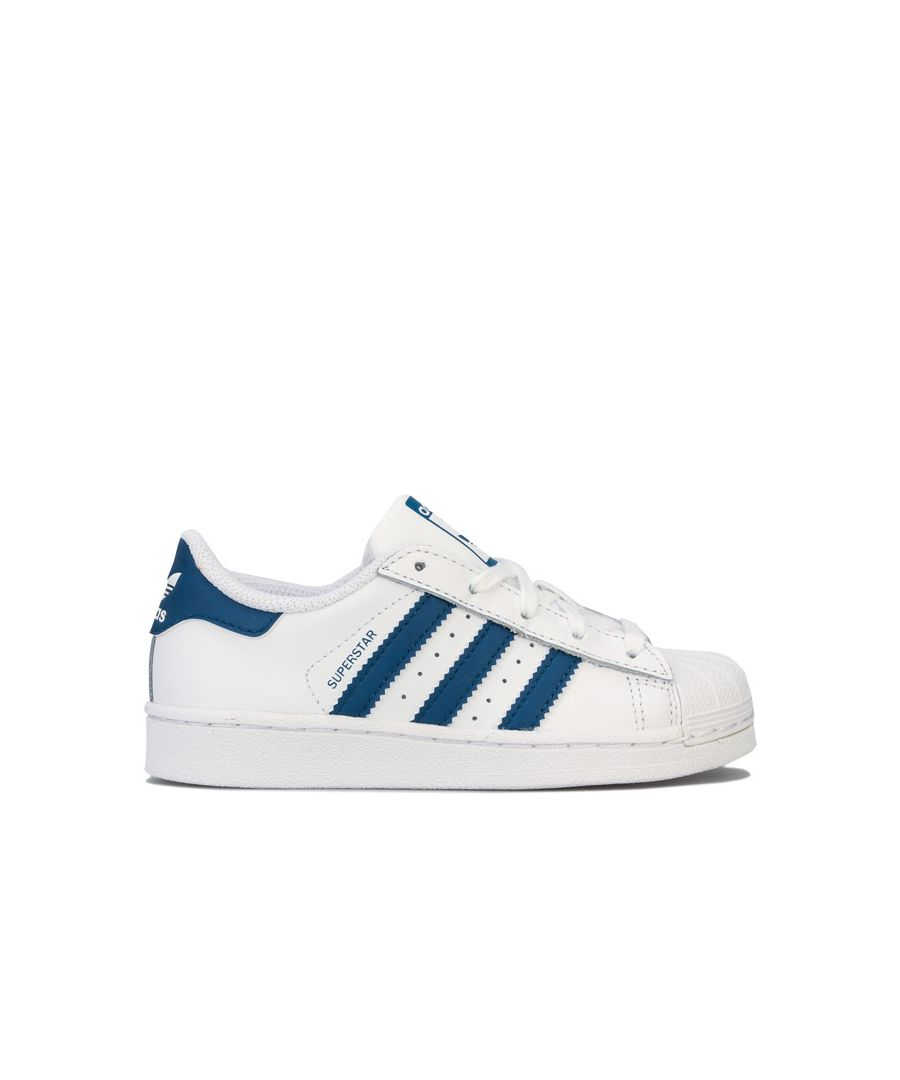 Image for Boy's adidas Originals Childrens Superstar Trainers in White