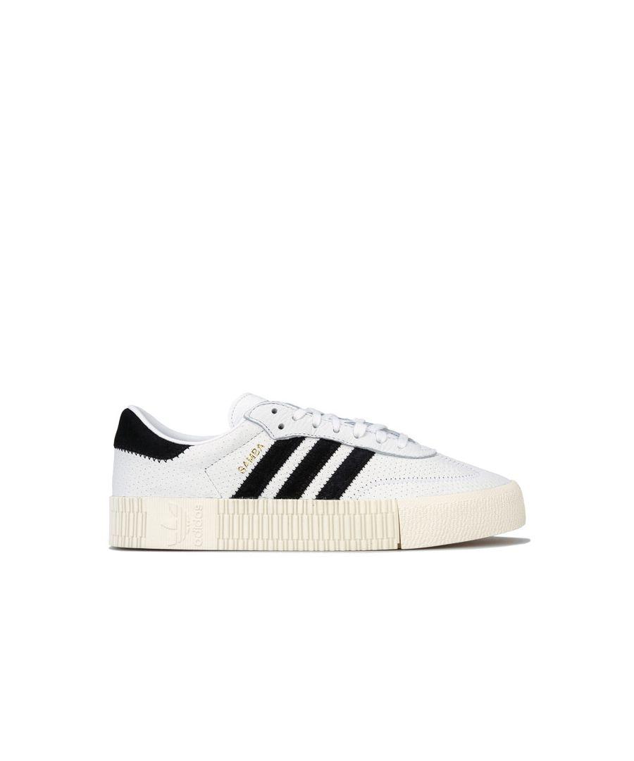 Image for Women's adidas Originals Sambarose Trainers in White Black