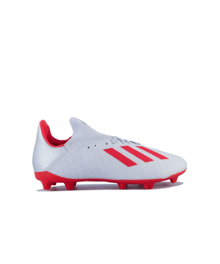 Image for Boy's adidas Junior X 19.3 FG Football Boots in Silver