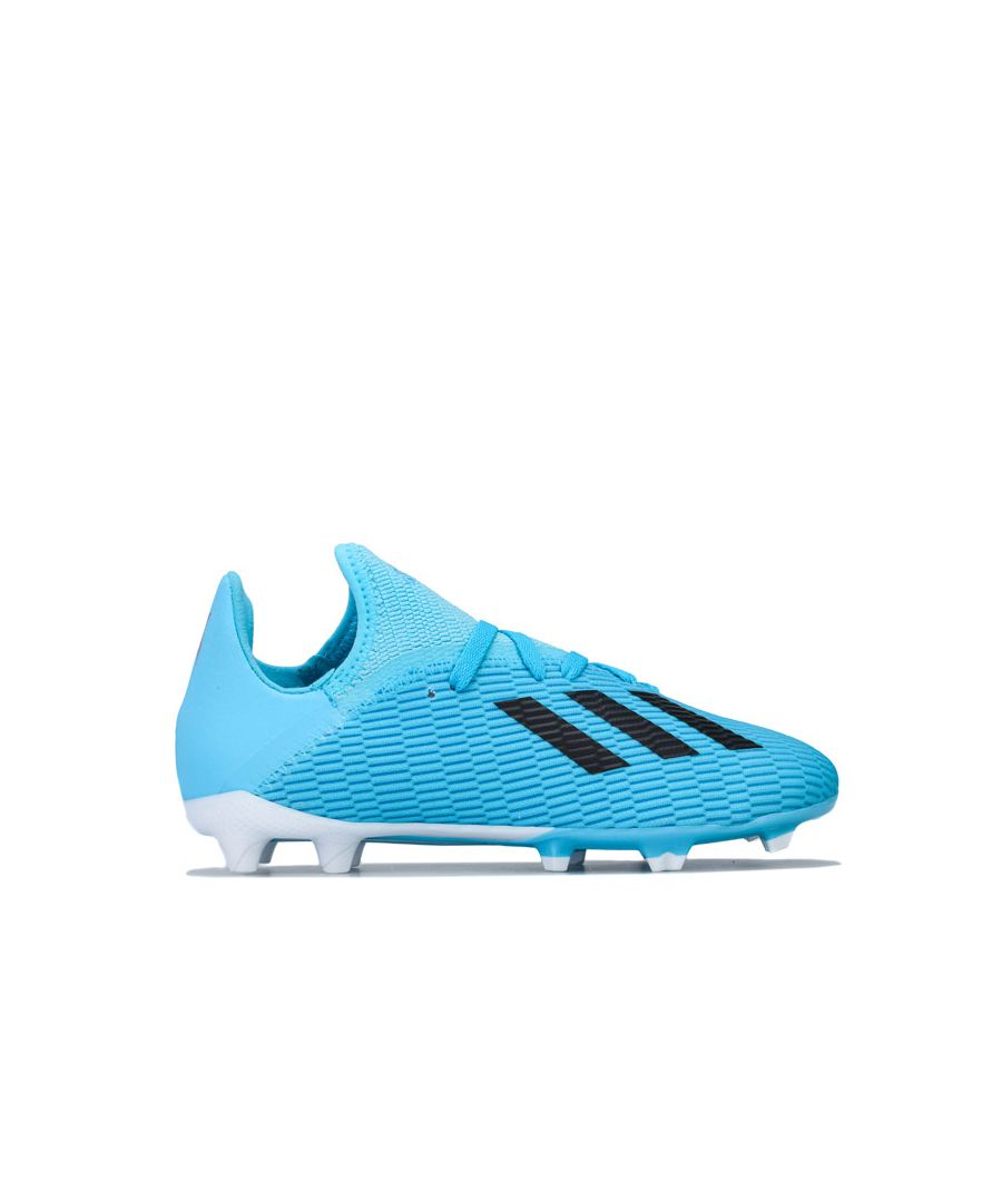 Image for Boy's adidas Junior X 19.3 FG Football Boots in Light Blue