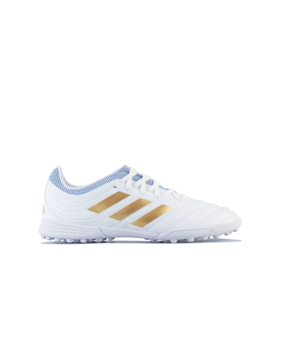 Image for Boy's adidas Junior Copa 19.3 Turf Football Boots in White
