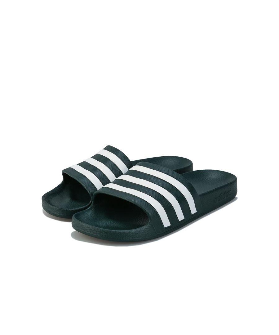 Image for Men's adidas Adilette Aqua Slide Sandals in Green