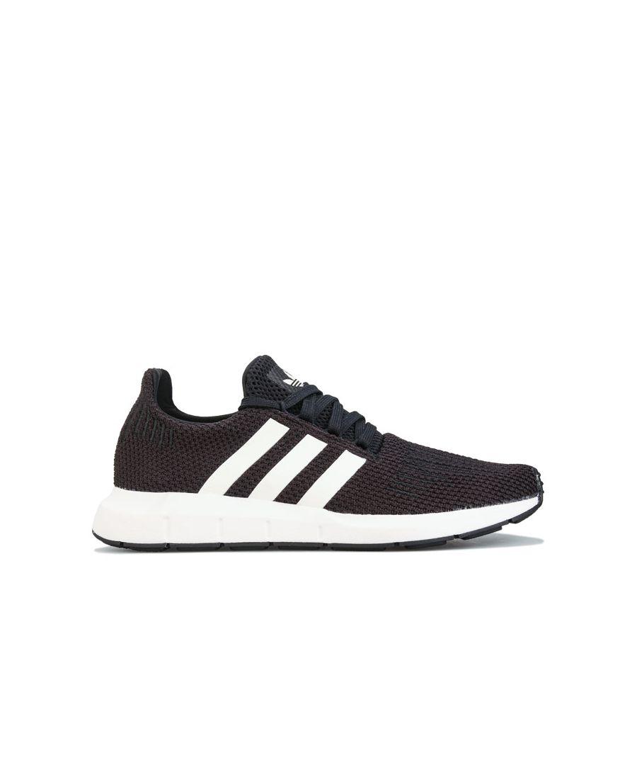 Image for Women's adidas Originals Swift Run Trainers in Black-White