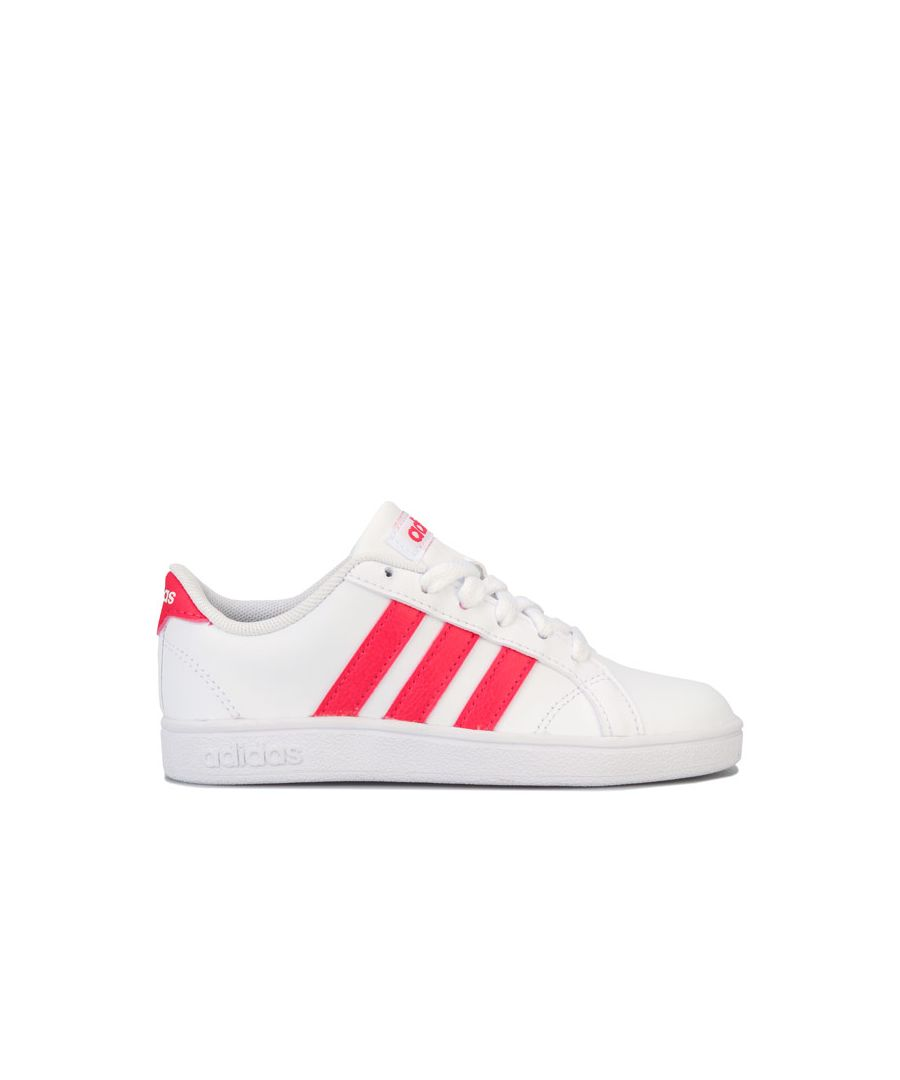 Image for Boy's adidas Children Baseline Trainers in White