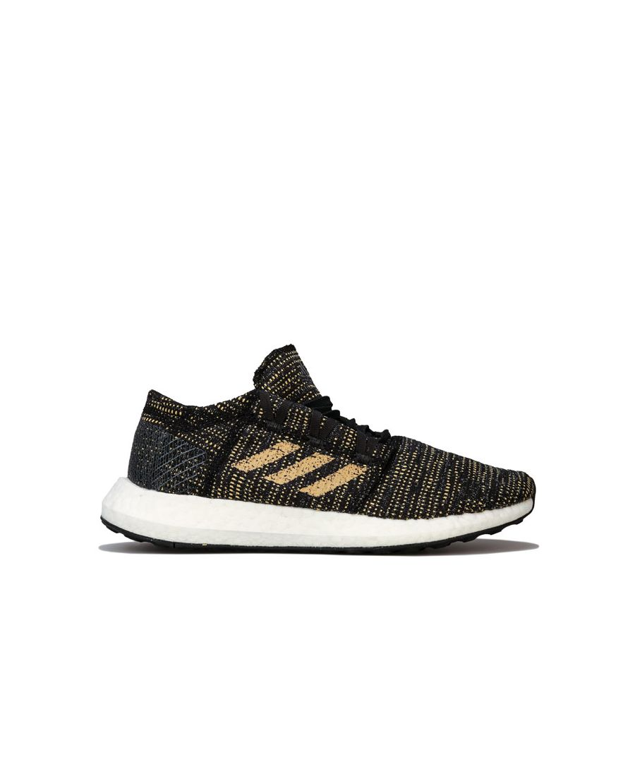 Image for Women's adidas Pureboost Go Running Shoes in Black Gold