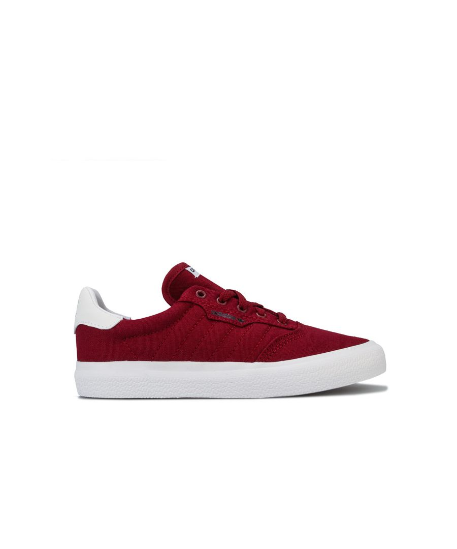 Image for Boy's adidas Children 3MC Trainers in Burgundy