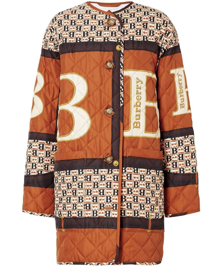 Image for BURBERRY WOMEN'S 8023327 BROWN POLYESTER OUTERWEAR JACKET