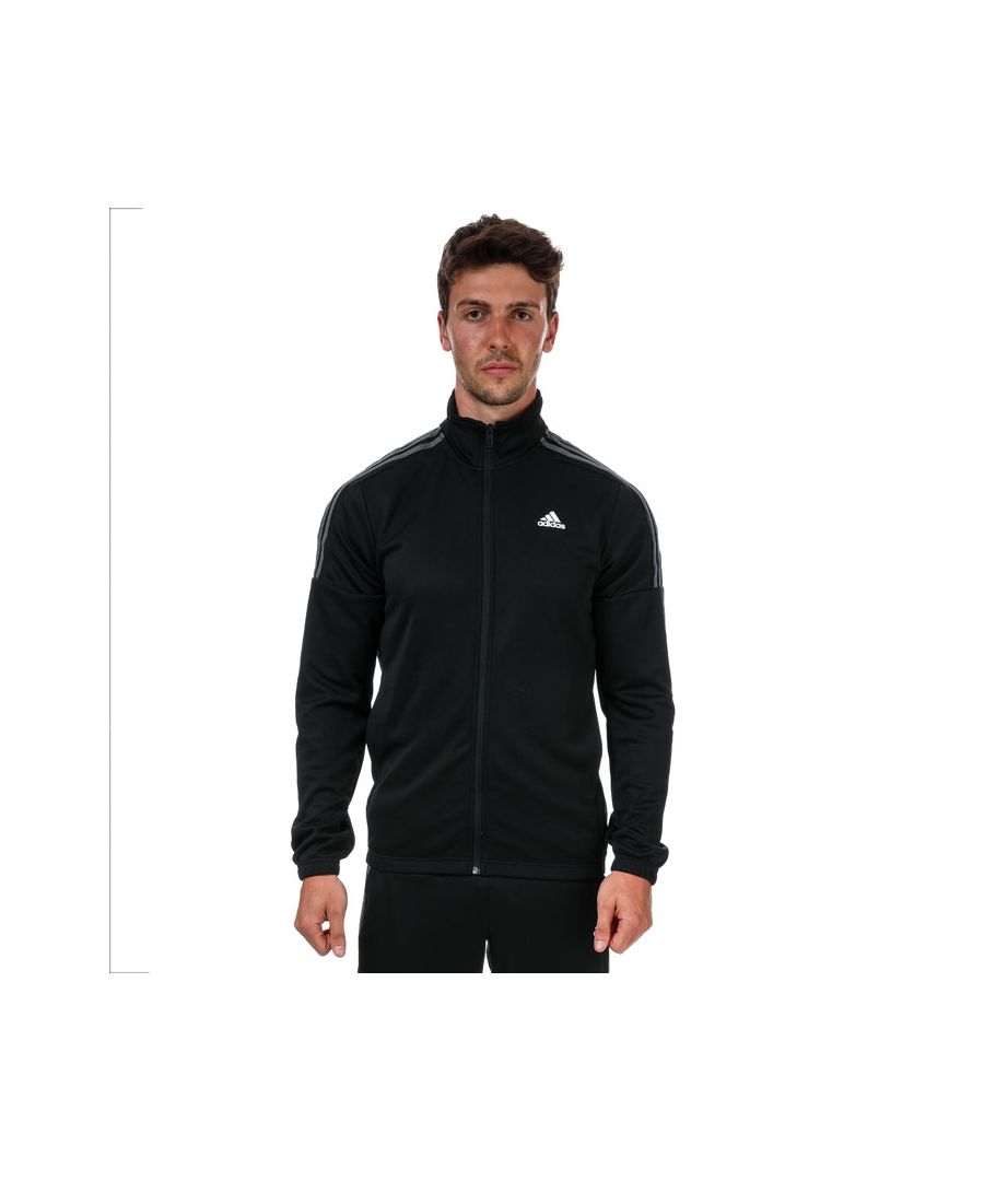 Image for Men's adidas Team Sports Tracksuit in Black Grey